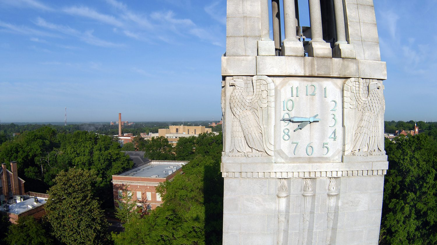 Aerial view of Memorial Belltower