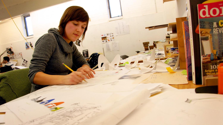 student in college of design