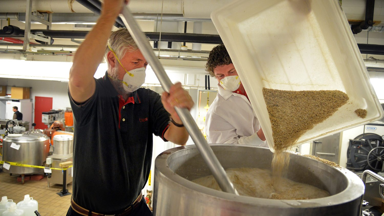 Brewing NC State beer