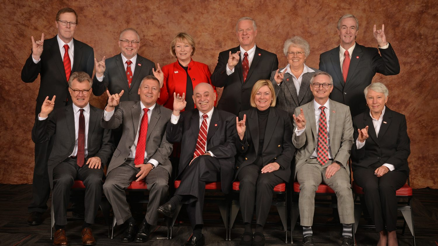 NC State's twelve deans.
