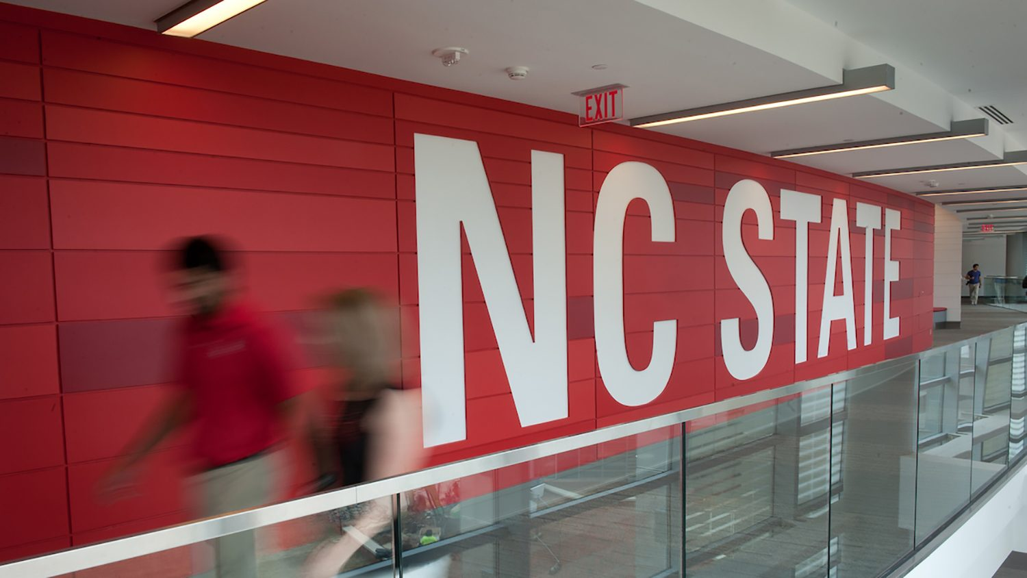 NC State sign in Talley Student Union