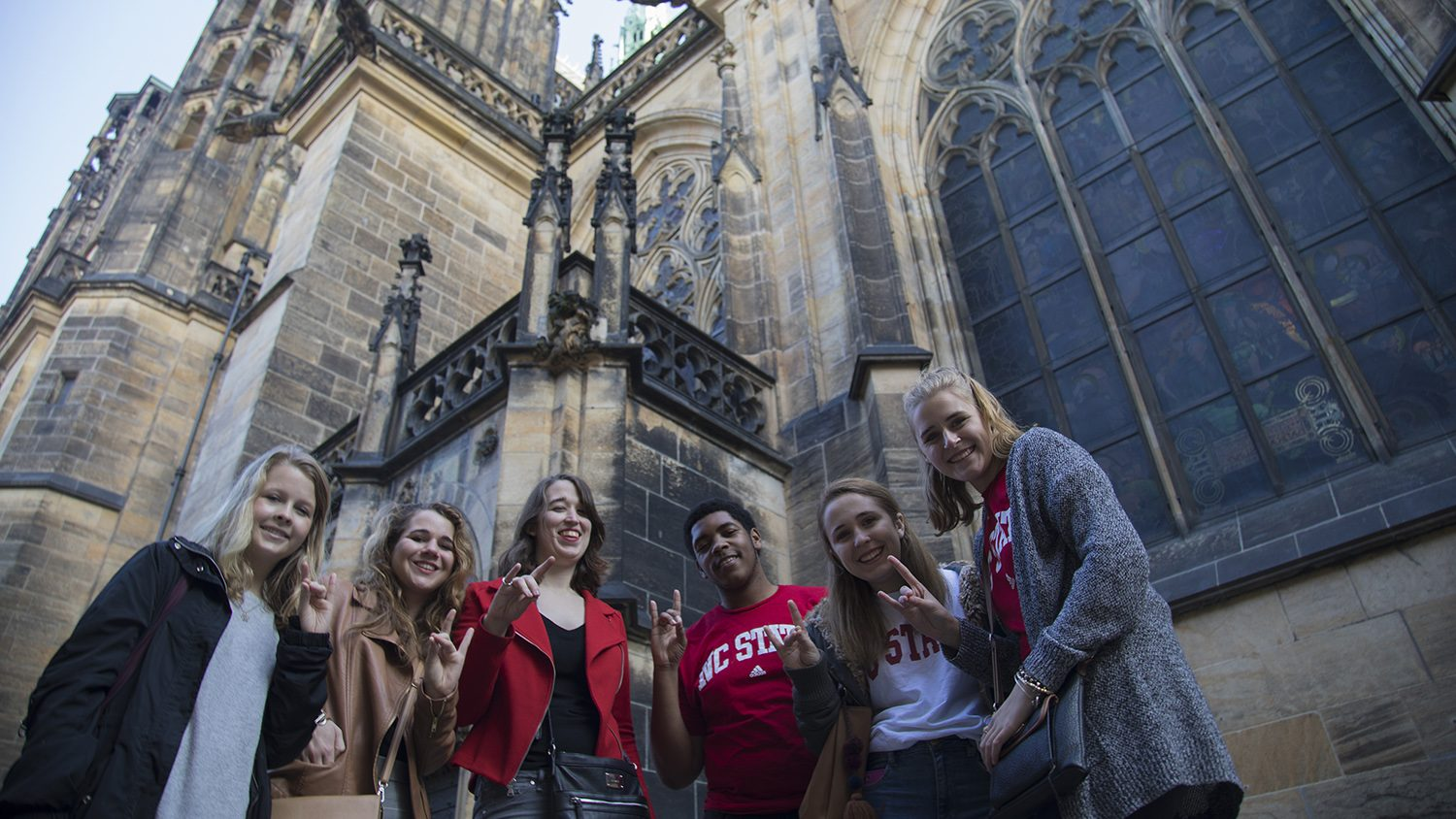 NC State students in Prague