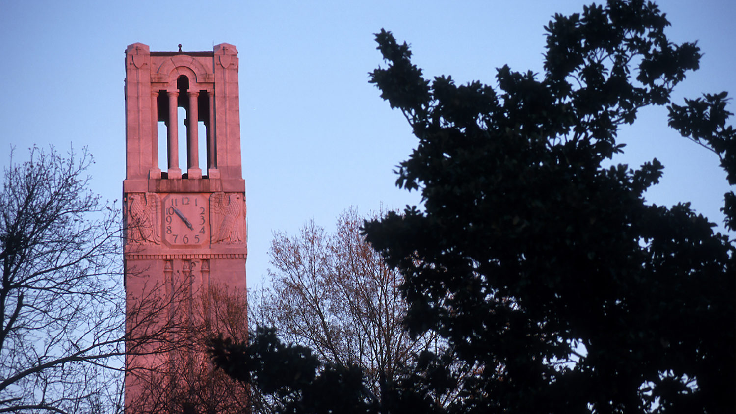 Memorial Belltower at sunrise