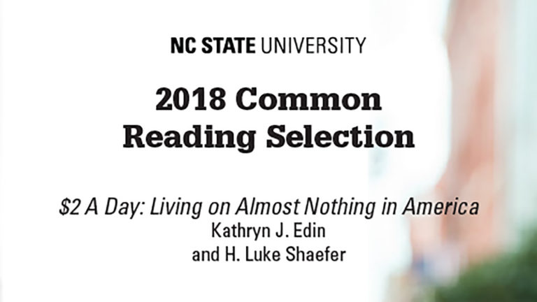 2018 Common Reading selection