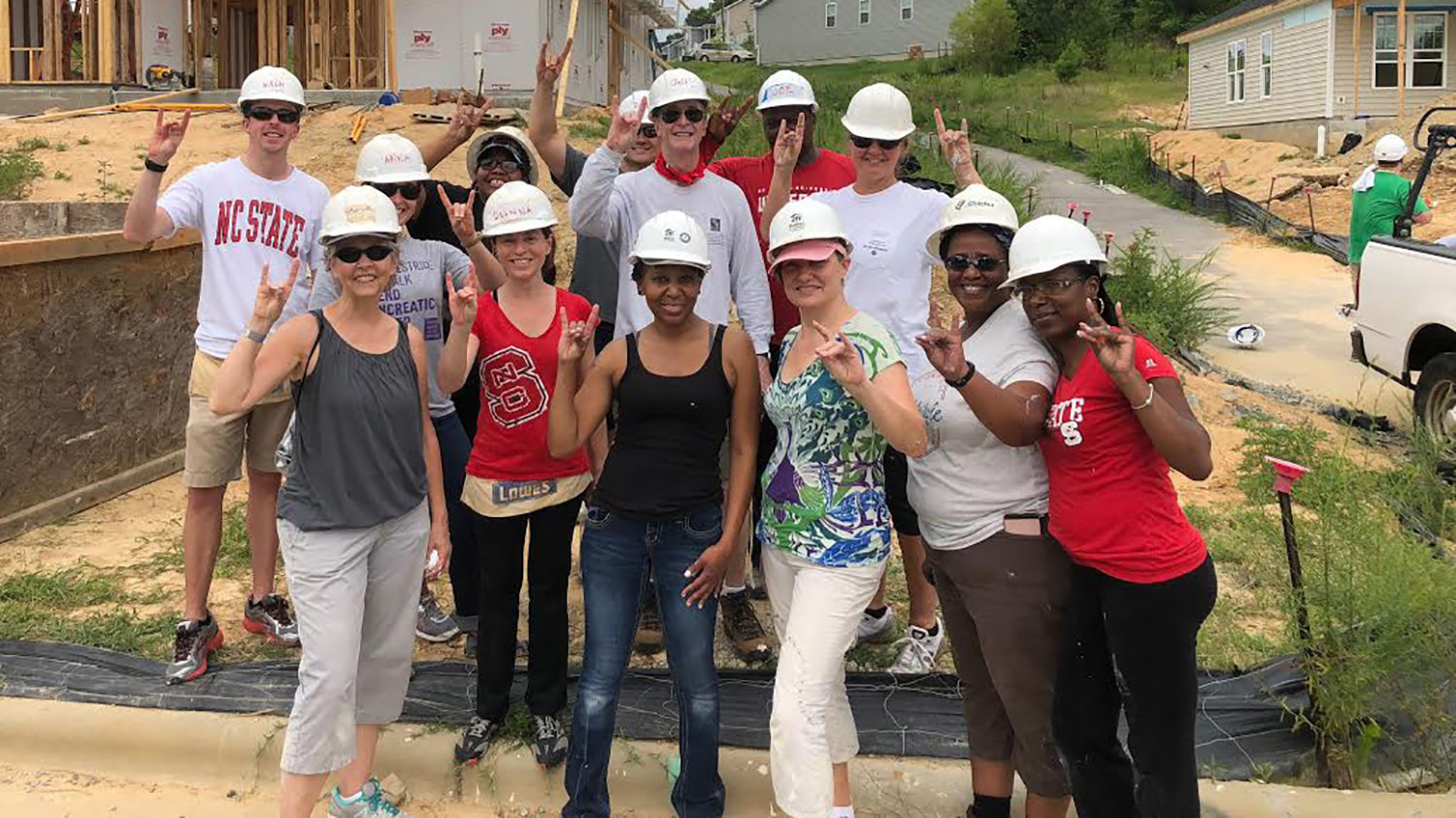 NC State faculty and staff build Habitat house