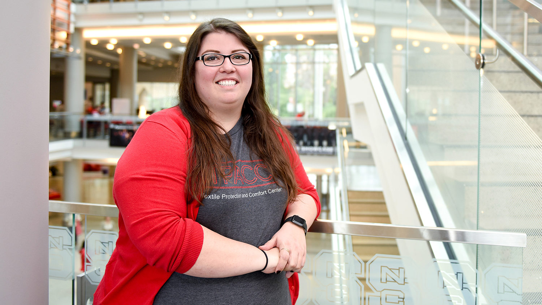 textiles graduate research assistant Kelli Smith