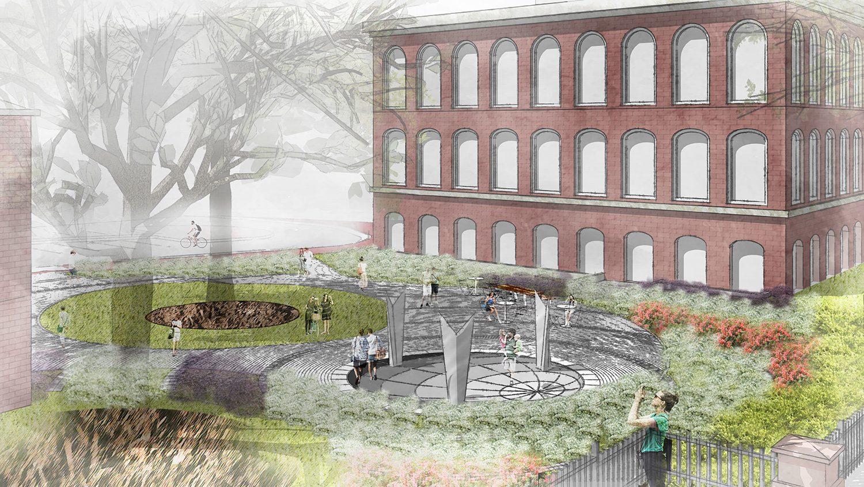 Global Courtyard rendering