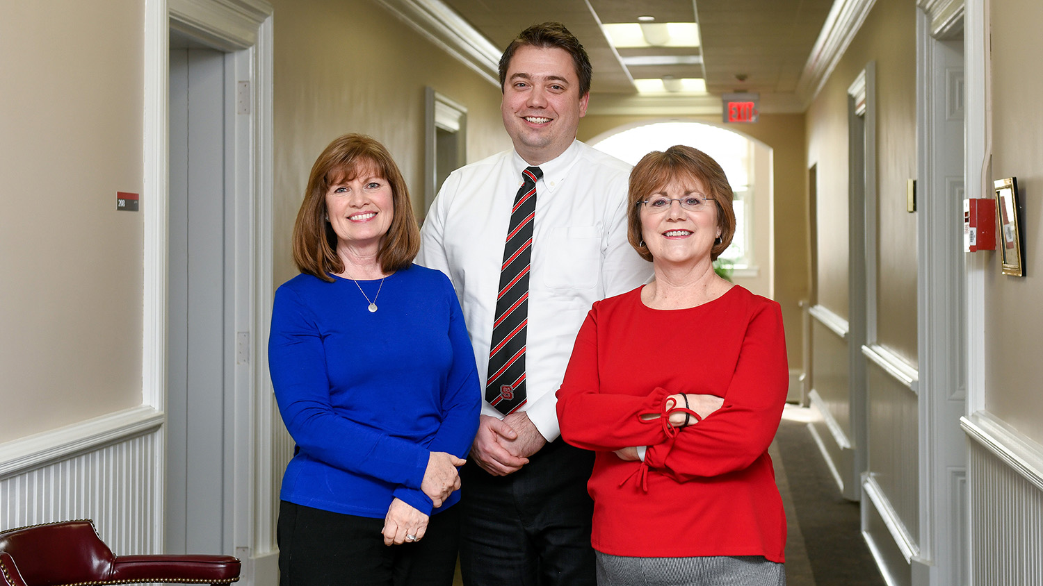 Vicki Pennington, Adrian Day and Karen Acree