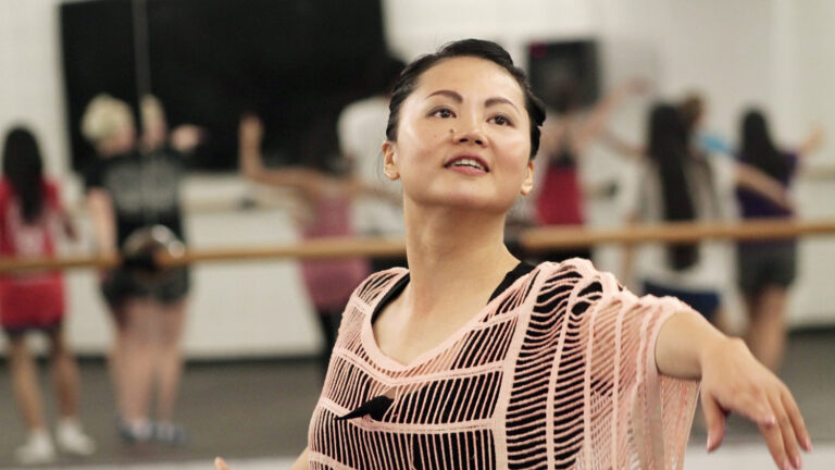 student dancing